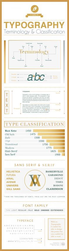 Typography Terminology & Classification Infographic