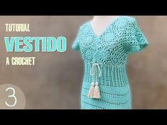 Vestido para mujer tejido a crochet, paso a paso (3 de 3)