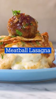 Ground Beef Recipes For Dinner, Dinner Recipes, Meatball Lasagna, Good Food, Yummy Food, Tasty, Cooking Recipes, Healthy Recipes, Easy Recipes