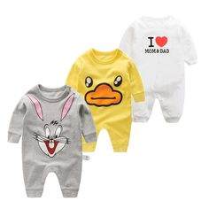 d7c887b57be8 2017 kids jumpsuit product spring autumn baby clothing cartoon baby girl  rompers 100% cotton BABY boy clothes newborn