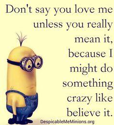 minion love quotes Archives - Despicable Me Minions - Minion Quotes