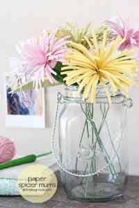 Over 75 Free Paper Flower Instructions at AllCrafts!