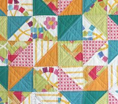 Quilt Blocks Baby Quilt Tutorial « by Ellen Luckett Baker of The Long Thread for the Sew,Mama,Sew! Blog