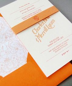 Oh So Beautiful Paper: Charles + Merrill's Ombre Letterpress Wedding Invitations
