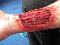 walking dead style prosthetic zombie bite by SiliconeKitchenFX, £12.00