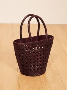 Reformation Woven Bucket Bag
