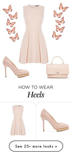 """Little Bits Of Love Go Along Way"" by kimberlydalessandro on Polyvore featuring Alexander McQueen, Charlotte Olympia and Givenchy"