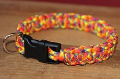 Paracord Dog Collar - Multi Color - Cobra Knot