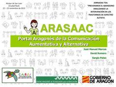 Una de las últimas presentaciones en Power Point sobre ARASAAC, realizada en Octubre de 2013, donde se recoge toda la información referente al portal, herramientas, software, ejemplos de uso, etc.