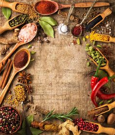 herbs and spices on rough wood Food Background Wallpapers, Food Wallpaper, Food Backgrounds, Food Graphic Design, Food Menu Design, Indian Food Menu, Food Photography Tips, Spices And Herbs, Foodblogger