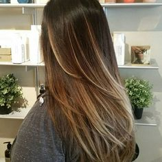 low maintenance color, balayage, dark hair, caramel ends, hand painted hair, long hair, organic hair, long layers. Color formula: Created with @simplyorganicofficial @owayorganics Hcolor 4.0+4.05+5.3 + 20vol base, 6.03 lows over previously lightened pieces