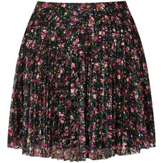 TOPSHOP Petite Mini Floral Lace Pleated Skirt ($20) ❤ liked on Polyvore featuring skirts, mini skirts, bottoms, saias, faldas, black, petite, lacy skirt, topshop and flower print skirt