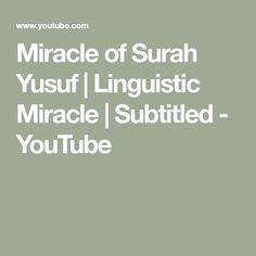 You will be absolutely Amazed and Stunned by Yet Another Linguistic Miracle of Quran. Miracles Of Quran, Youtube, Youtubers, Youtube Movies