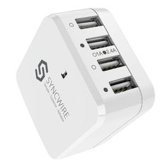Wall Charger Syncwire USB Plug - 4 Ports 6.8A/34W Multi iPhone USB Fast Charger with Interchangeable UK EU US Travel Adaptor for iPhone X/8/7/6, iPad, Android Samsung Galaxy, Note 8, Tablet, Kindle & More: Amazon.co.uk: Computers & Accessories