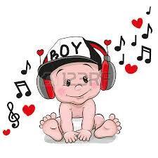Resultado de imagen para dibujos de bebes con auriculares