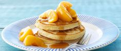 Peach Pancakes recipe from Food in a Minute