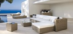 contemporary modular garden sofa ASPEN by MANUTTI