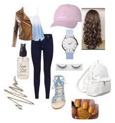 """""""Untitled #61"""" by alyssa-wilsonn ❤ liked on Polyvore featuring 7 For All Mankind, Cornetti, 7 Chi, Sans Souci, Anastasia Beverly Hills, OPI and Olivine"""