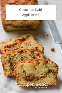 Cinnamon Swirl Apple Bread Chef Recipes, Bread Recipes, Baking Recipes, Dessert Recipes, Apple Desserts, Apple Recipes, Sweet Recipes, Vegetarian Bake, Apple Bread
