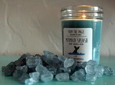 This tropical candle that'll take you swimming.   21 Things You Need To Turn Your Home Into A Mermaid's Grotto