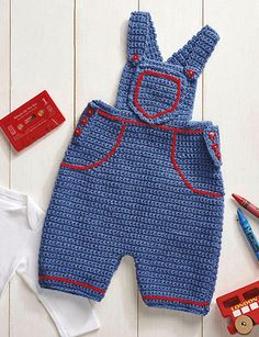 Craft Passions: Baby Dungarees .# free # crochet pattern link here...