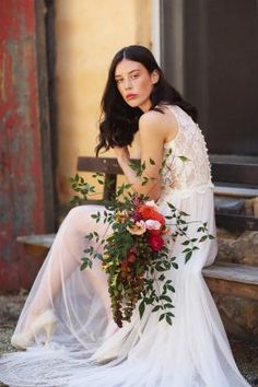 Moody Brights Bridal Inspiration   Photo by Caitlin May http://www.caitlinphotography.com/