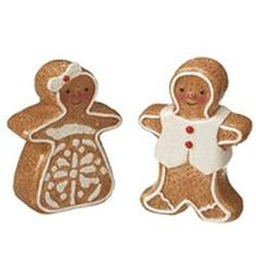 Gingerbread Couple Salt and Pepper Shaker Set 3 Inches Tall
