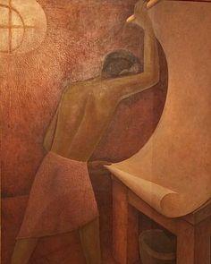 Obra de Xavier Guerrero. Foto cortesía Museo Casa Estudio Diego Rivera y Frida Kahlo.