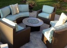 Gas Fire Pit Furniture Set - contemporary - outdoor sofas - minneapolis - AllBackyardFun.com