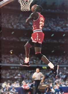 Within a 15 year career, Michael Jordan was named an All-Star 14 times and captured two Dunk Contest titles. Having only missed the All-Star due to the Basketball Tumblr, Jordan Basketball, Basketball Pictures, Bulls Basketball, Basketball Jones, Air Jordan Iv, Jordan Swag, Jordan Shoes, Nba Players