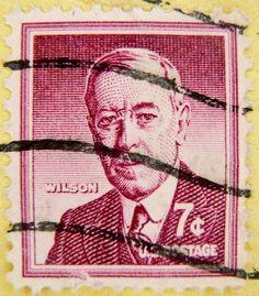 7c portrait president Woodrow Wilson image pic 1856-1924 United States of America