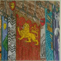 Great Hall of Winterfell I Am Game, Colouring Pages, Painting, Color, Quote Coloring Pages, Colour, Coloring Pages, Printable Coloring Pages, Painting Art