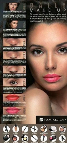 Get the Day Look using 100% FM Mineral Makeup  #FMCosmetics #Minerals #FMPerfume  www.fmcosmeticsworld.com