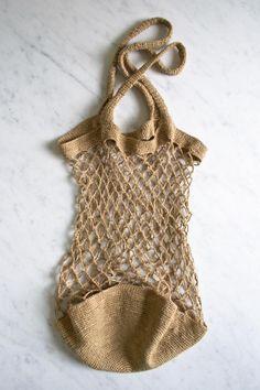 Bolsa de ganchillo con cuerda de Purl Soho
