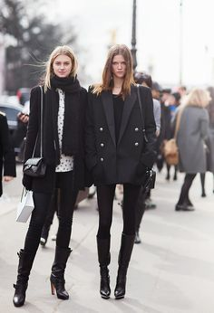 All black outfit / Street style fashion / fashion week week Estilo Fashion, Fashion Moda, Trendy Fashion, Ideias Fashion, Womens Fashion, Winter Fashion, Fashion Fashion, Fashion Black, Vintage Fashion