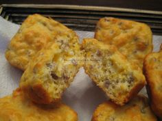 Sausage Cheese Muffins - Buttoni's Low Carb Recipes - Visit us: https://www.facebook.com/LowCarbingAmongFriends