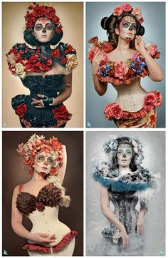 catrina day of the dead costumes - Google Search