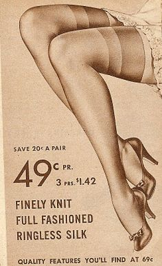 Vintage images of stocking legs - nylon stockings Pin Up Vintage, Mode Vintage, Vintage Shoes, Vintage Ads, Vintage Images, Vintage Outfits, Vintage Fashion, 1940's Fashion, Vintage Models