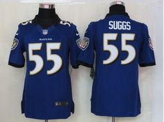 Purple Suggs Ravens NEW Limited #55 Jersey