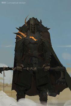 ArtStation - Seven Samurai (A warrior), zhihui Su Fantasy Character Design, Character Concept, Character Art, High Fantasy, Dark Fantasy Art, Fantasy Armor, Medieval Fantasy, Armor Concept, Concept Art