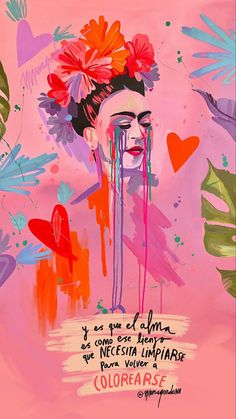 Wallpaper Iphone Quotes Backgrounds, Tumblr Wallpaper, Iphone Wallpaper, Wallpapers, Girl Drawing Sketches, Art Drawings Sketches Simple, Frida Kahlo Wallpaper, Frida Quotes, Frida Art