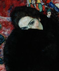 Lady with a muff - Dame mit Muff  1916: Oil on canvas  Depository: Unknown