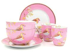 these would surely cheer me up on a dark November morning / Pip Studio Early bird breakfast set - Pink Perfect Pink, Pretty In Pink, China Buffet, Breakfast Set, I Believe In Pink, Shabby Chic Crafts, Pip Studio, Dinner Sets, Shabby Vintage