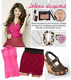 Selena Inspired Style, created by darciorange on Polyvore