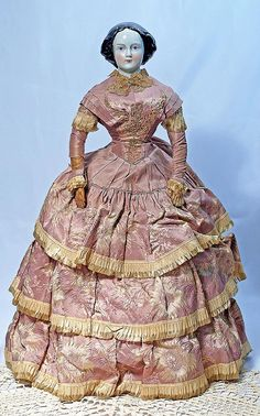 """127. FINE CHINA DOLL KNOWN AS """"JENNY LIND"""" IN"""
