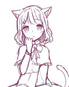 anime drawing poses pose innocent kid