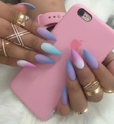I adore how each nail is a different type of ombré.