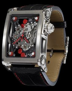 Bernard Richards Manufacture makes some of the most spectacular watches on the market today. Their BRM Birotor is top of the line. Amazing Watches, Beautiful Watches, Cool Watches, Watches For Men, Brm Watches, Sport Watches, Patek Philippe, Stylish Watches, Luxury Watches