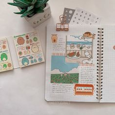 Bullet Journal Japan, Bullet Journal And Diary, Bullet Journal Aesthetic, Bullet Journal Ideas Pages, Bullet Journal Inspiration, Studyblr, Journal Layout, Scrapbook Journal, How To Make Stickers