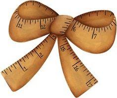 imagem decoupage clipart  Measuring Tape Bow